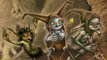 goblins crash...detail by rose-colligan