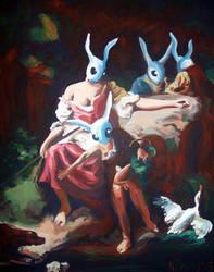 Rabbit Scene by HillaryWhiteRabbit