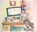 Danny and Desktop by HillaryWhiteRabbit