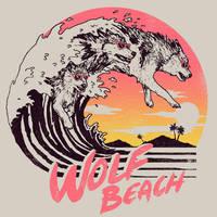 Wolf Beach by HillaryWhiteRabbit