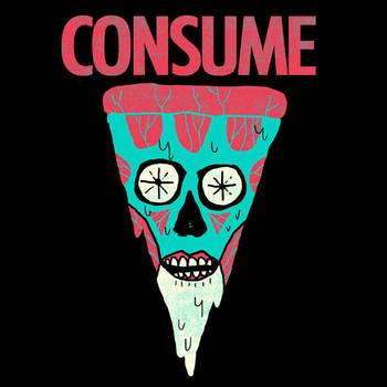 Consume Pizza by HillaryWhiteRabbit