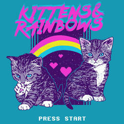 Kittens and Rainbows by HillaryWhiteRabbit
