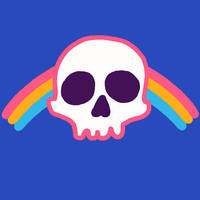 Rainbow Skull by HillaryWhiteRabbit