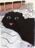 Blep Cat by HillaryWhiteRabbit