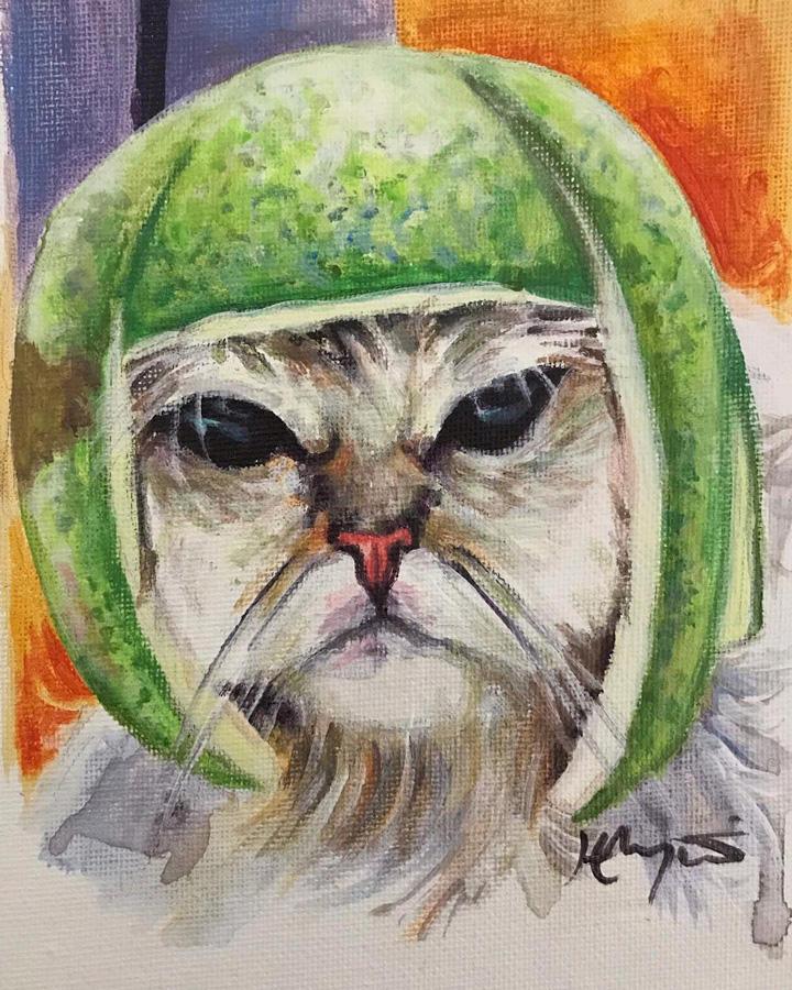Lime Cat by HillaryWhiteRabbit