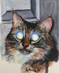 Laser Cat by HillaryWhiteRabbit