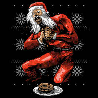 Santa Devouring His Cookies by HillaryWhiteRabbit