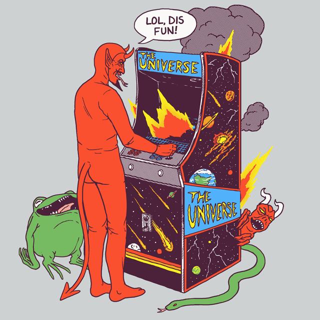 Satan Controlling the Universe by HillaryWhiteRabbit