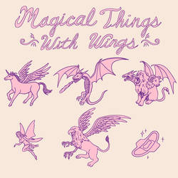 Magical Things With Wings by HillaryWhiteRabbit