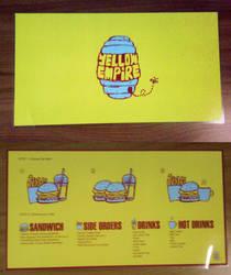 Yellow Empire Fast Food Menu by Torasuto