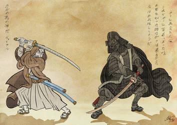 Samurai Wars by grimorioilustrado