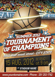 Basketball Event Flyer by oblik50