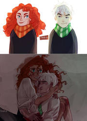 Jarida and Harry Potter AU by reat13