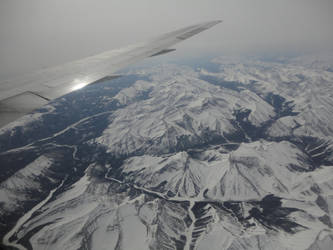 Flying over the Rockies by KXSakuraba