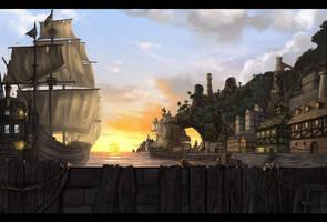 Pirate city by Amylrun