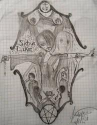 Satan-Like Drawing by DeathNote1qa