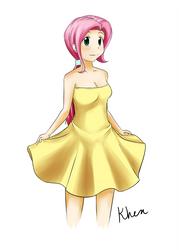 Shy In A Dress by kprovido