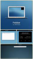 Fedobar Desktop Screenshot Preview (Rainmeter) by milKShape