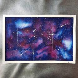 Blue/Purple Galaxy by Albiona