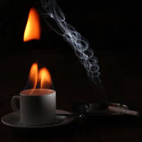 Hot coffe and a cigarette... II by AlejandroCastillo