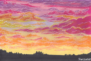 Winsor and Newton markers - Sunset by Peach1432