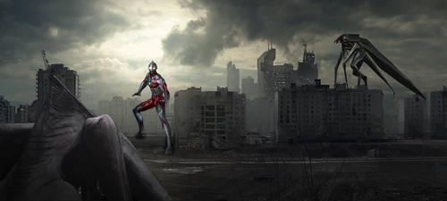 Ultraman-vs-MUTO by UltimateDitto