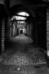 medieval alley by Svelon