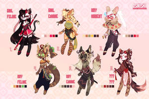Adoptables auction   closed by OSIRISXII