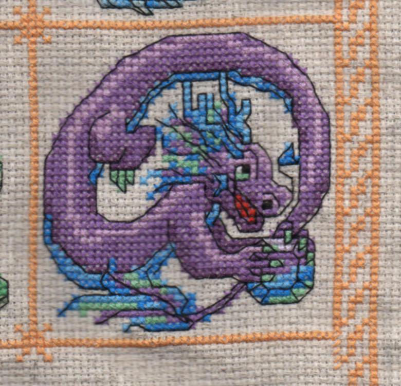 Dragon Birthstone SAL - June/Alexandrite by jijikit