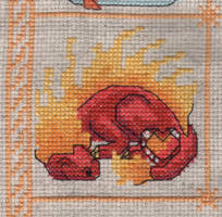 Dragon Birthstone SAL - July/Ruby by jijikit