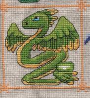 Dragon Birthstone SAL - August/Peridot by jijikit