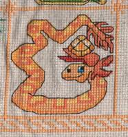 Dragon Birthstone SAL - November/Topaz by jijikit