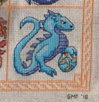 Dragon Birthstone SAL - December/Turqoise by jijikit