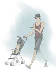 Adventures in Parenting - Stroll by angryangryasian
