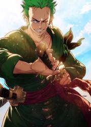 Zoro-One Piece - angryangryasian by angryangryasian