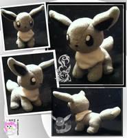 Chibi Shiny Eevee Plushie by Ami-Plushies