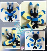 Shiny Mothim Plushie :Sold: by Ami-Plushies