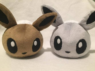 Eevee Blob Plushies Regular and Shiny by Ami-Plushies