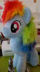 WIP Custom Made Rainbow Dash plush by AlayasYazoo