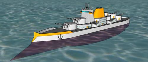 Deuteronomy-class Cruiser (Updated) by killerweinerdog