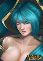 Sona (League Of Legends) Illustration by thomasukun