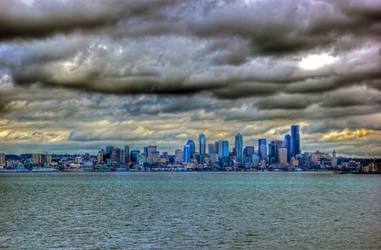 Seattle Waterfront HDR by Mackingster