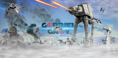 STARWARS Hoth Battle (G@BRIEL GR@Y) Banner by GBRIELGRY