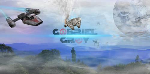 STARWARS Yavin Falcon Crash (G@BRIEL GR@Y) Banner by GBRIELGRY
