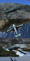 Rainbow Dash Mooney Bravo FSX Livery by BroniePologist