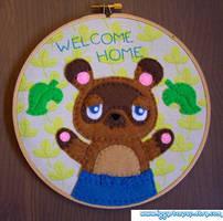 Tom Nook Welcome Home Hoop by iggystarpup
