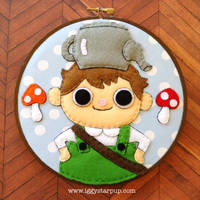 Over the Garden Wall Greg Embroidery by iggystarpup
