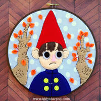 Over the Garden Wall Wirt Embroidery by iggystarpup