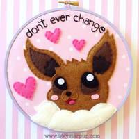 Eevee Embroidery by iggystarpup