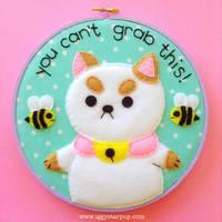 Feminist Puppycat Embroidery by iggystarpup